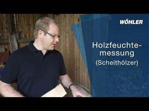Holzfeuchtemessung (Scheithölzer)