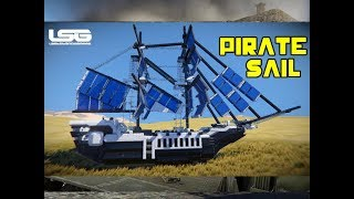 Flying Pirate Ship - Space Engineers