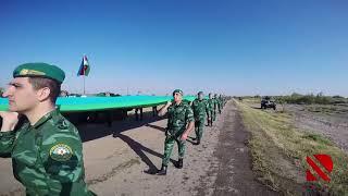 Qarabağa doğru 2 kilometr uzunluğunda Azərbaycan bayrağı