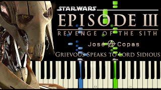 Download lagu Star Wars III - Grievous Speaks to Lord Sidious   Tema de Grievous (Piano Tutorial + Partitura)