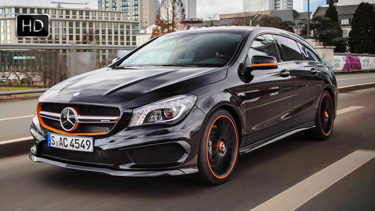 Mercedes benz cla shooting brake orange art edition for Mercedes benz orange