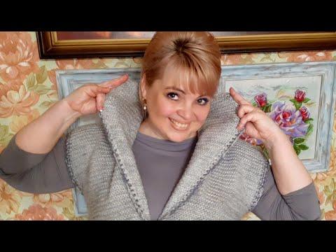Удлинённая жилетка - я её обожаю!!! #вязание #вязаниеспицами