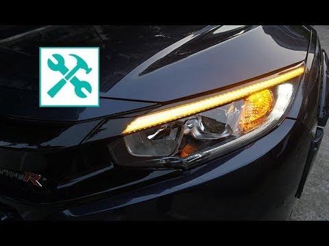 Honda Civic 10 gen. | DYNAMIC eyebrow LED light RETROFIT 🛠