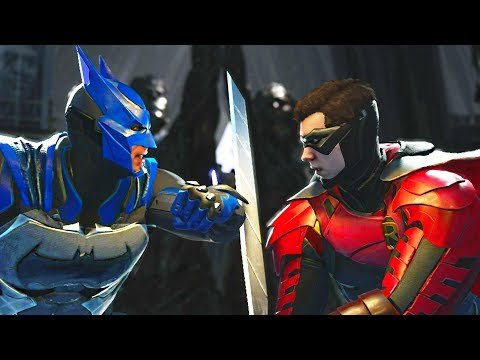 Injustice 2 - Batman vs Robin - All Intro Dialogue, Super Moves And Clash Quotes