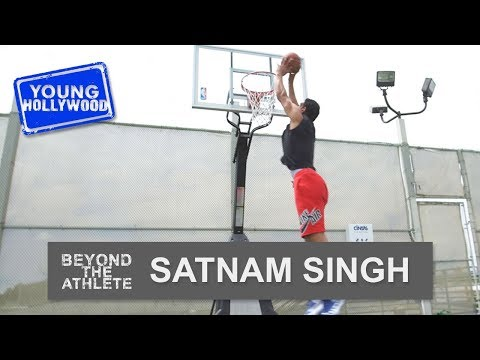 Basketball Star Satnam Singh: 3 Pointer Challenge!