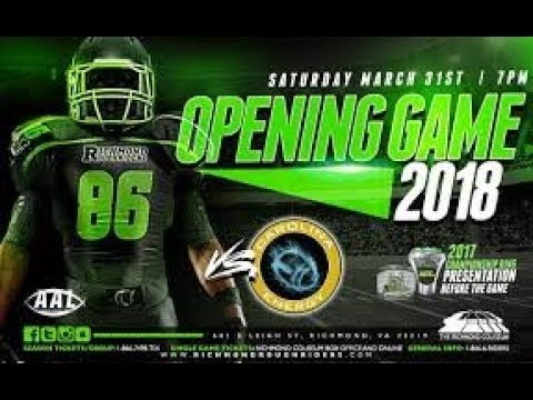 Carolina Energy Vs Richmond RoughRiders  March 31, 2018