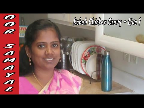 #53 Kebab Chicken Gravy From Leftover Grilled Chicken Kebab | Live Cooking Challenge 4 | OOR SAMAYAL