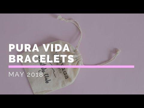 Pura Vida Bracelets Subscription Box Unboxing May 2018