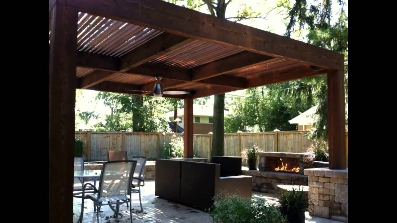 Pergola designs pergola designs outdoor kitchen - YouTube