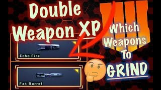 Double WEAPON XP Weekend (Best Weapons to GRIND MAX LEVEL - BEST Operator Mods) | Black Ops 4