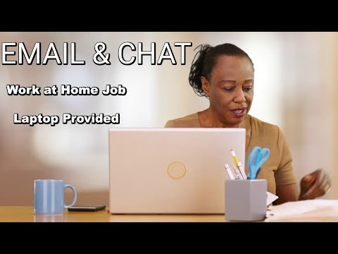 EMAIL & CHAT JOB (WORK AT HOME) - LAPTOP PROVIDED