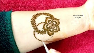 Latest Beautiful and Easy Mehndi Design for Hand || Arham Mehndi Designs
