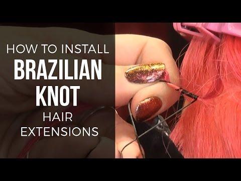 How To Do Brazilian Knot (Fiberglass) Extensions  - DoctoredLocks.com