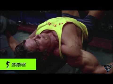 Редкие Кадры Арнольд тренирует грудь разведение гантелей Channel (MAD DESIRE)