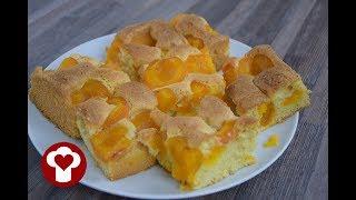 Marillenkuchen / Aprikosenkuchen - Das einfache Marillenkuchen / Aprikosenkuchen Rezept