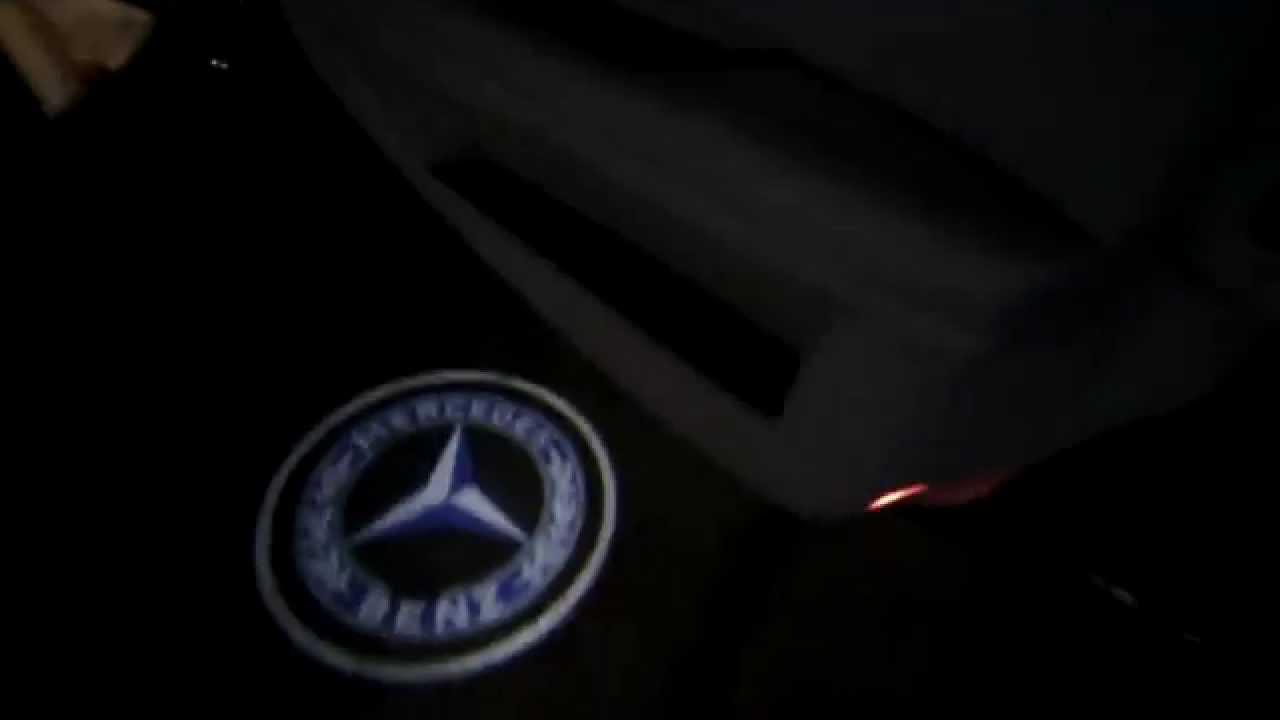 09 Mercedes E350 Door Led Logo Projector & 09 Mercedes E350 Door Led Logo Projector - YouTube