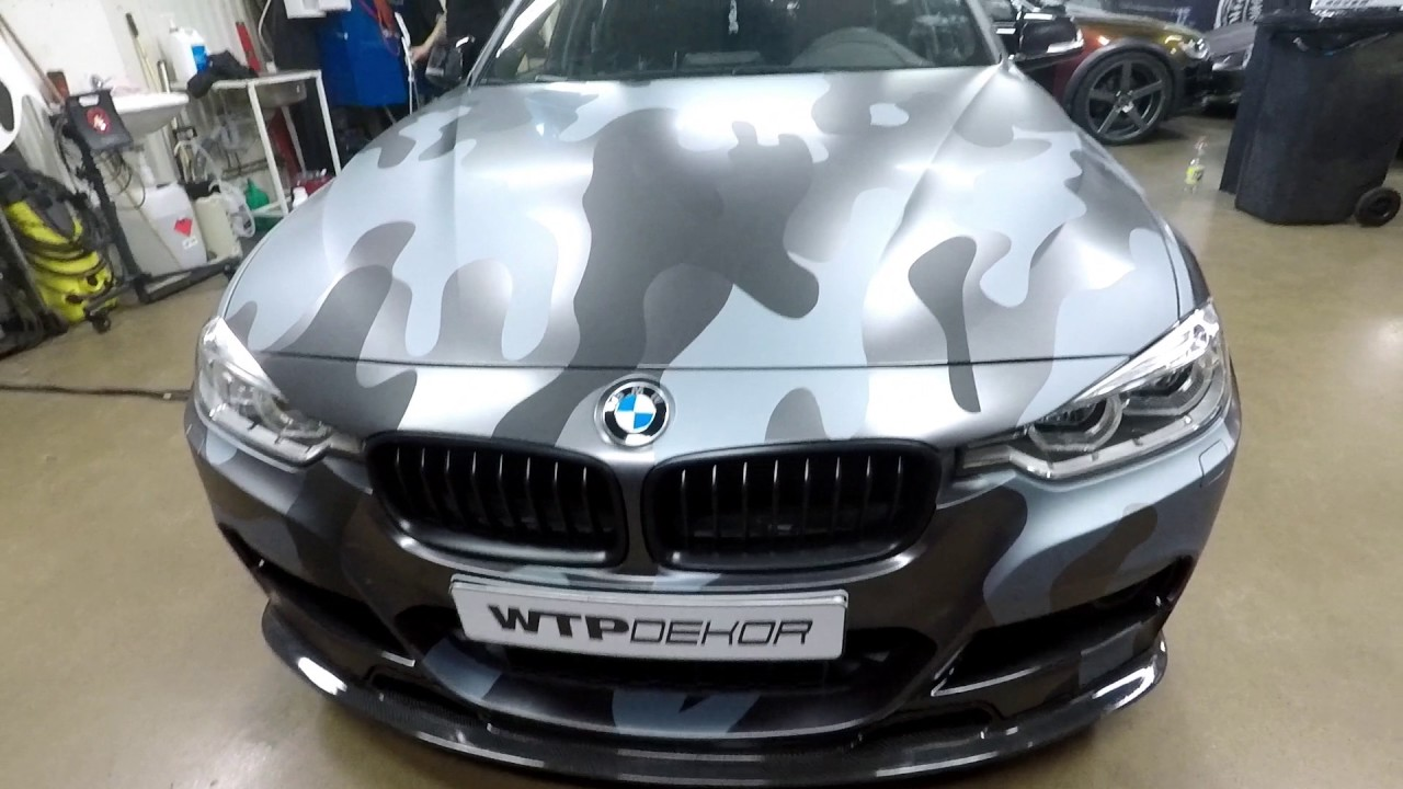 Bmw 3 Series Camouflage Full Wrap Youtube