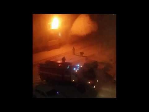 Пожар в Нарьян-Маре 1.01.2017. Фейерверк удался!