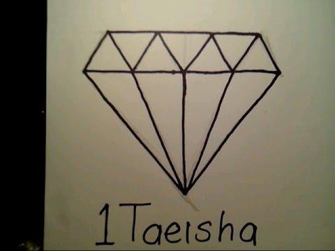 How To Draw A Diamond Easy Como Dibujar Un Diamante Ring Blood