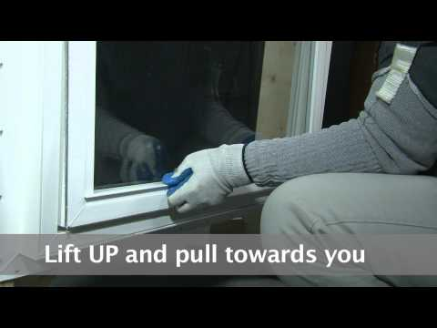 How to remove and replace a picture window sash