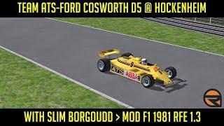 [rFactor] Team ATS-Ford Cosworth D5 @ Hockenheim with Slim Borgoudd ► Mod F1 1981 RFE 1.3
