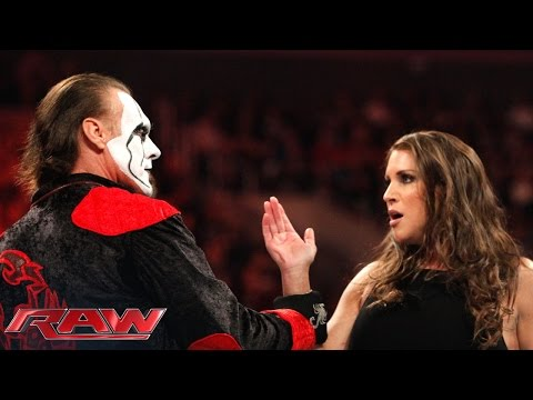 Sting kicks off Raw for the first time...