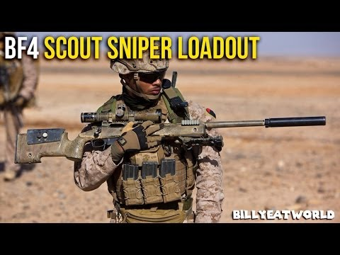 Battlefield 4 (PS4) - USMC Scout Sniper Loadout - M40A5 w/ 8x, Straight Pull (BF4 Gameplay)
