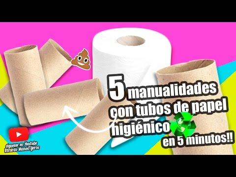 MANUALIDADES RECICLAJE 5 MANUALIDADES CON TUBOS DE PAPEL HIGIÉNICO EN 5 MINUTOS