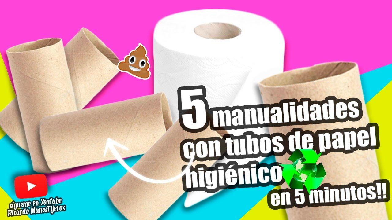 Manualidades reciclaje 5 manualidades con tubos de papel - Youtube manualidades de papel ...