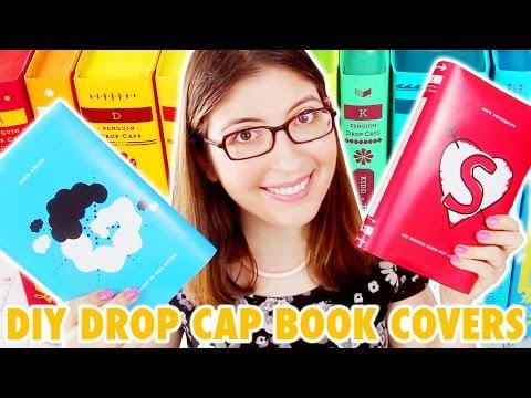 DIY Penguin Drop Cap Book Covers | @karenkavett