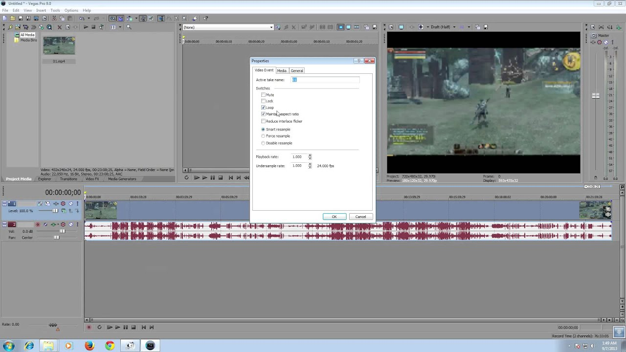 how to fix so sony vegas dosnt lag the clips