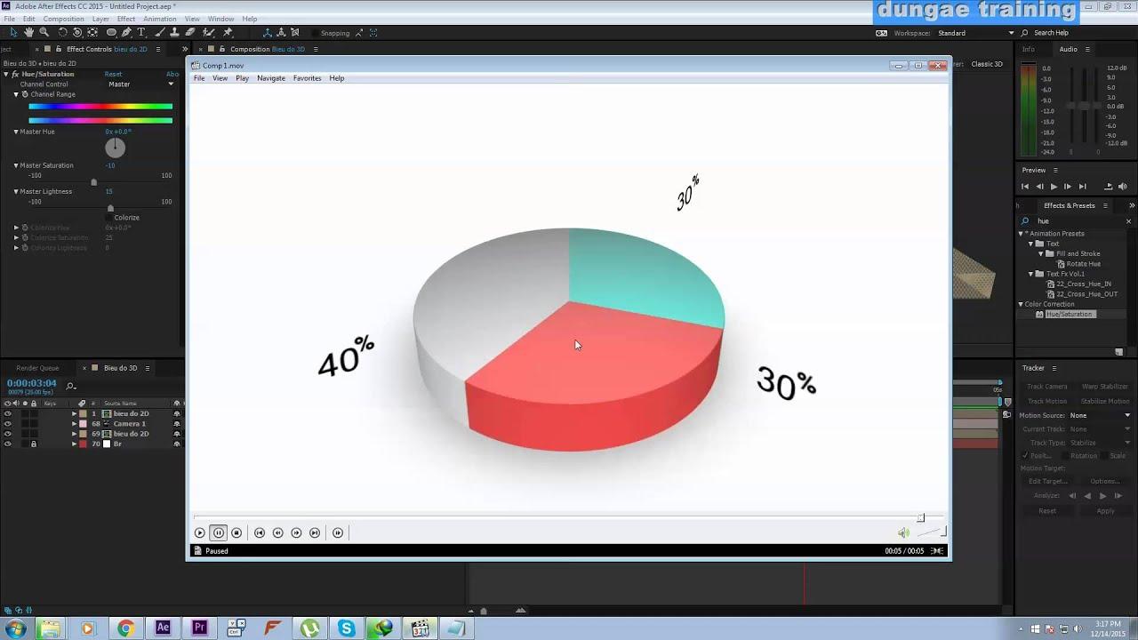 DungAe Training Hướng dẫn tạo Biểu đồ 3D trong After effects