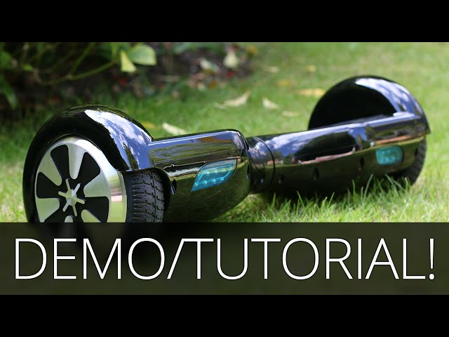 Self Balancing Scooter Demo & Tutorial - 2 Wheel Electric Hoverboard! (Swegway/Monorover/Segway)