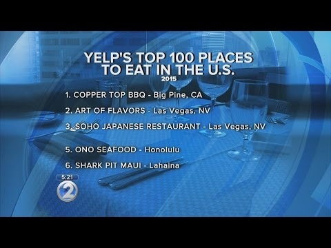 Hawaii eateries make Yelp's Top 100 Places to Eat in the U.S.