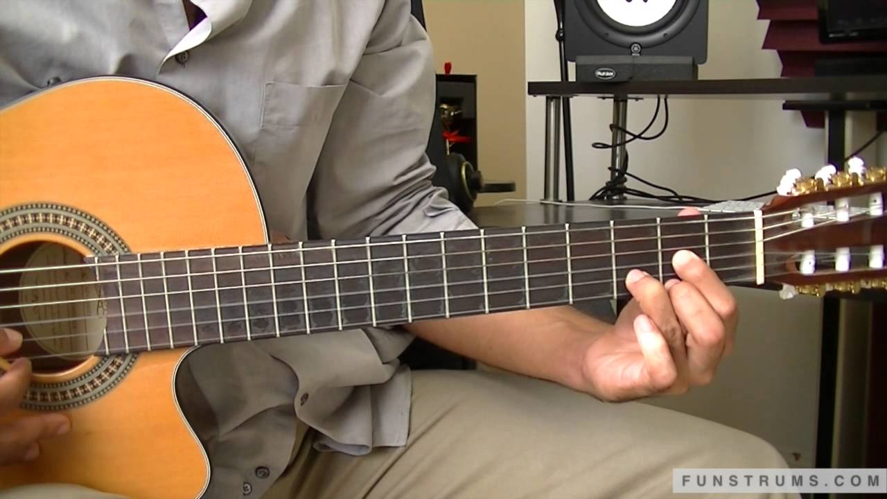 How To Play Feliz Navidad Solo Guitar Chords And Strumming Lesson