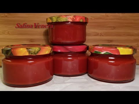 НАТУРАЛЬНАЯ  ТОМАТНАЯ  ПАСТА. Заготовка из помидоров на зиму без консервантов