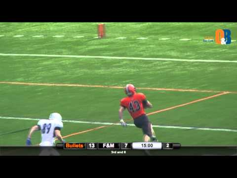 Chris Miller Pick-6 vs. F&M