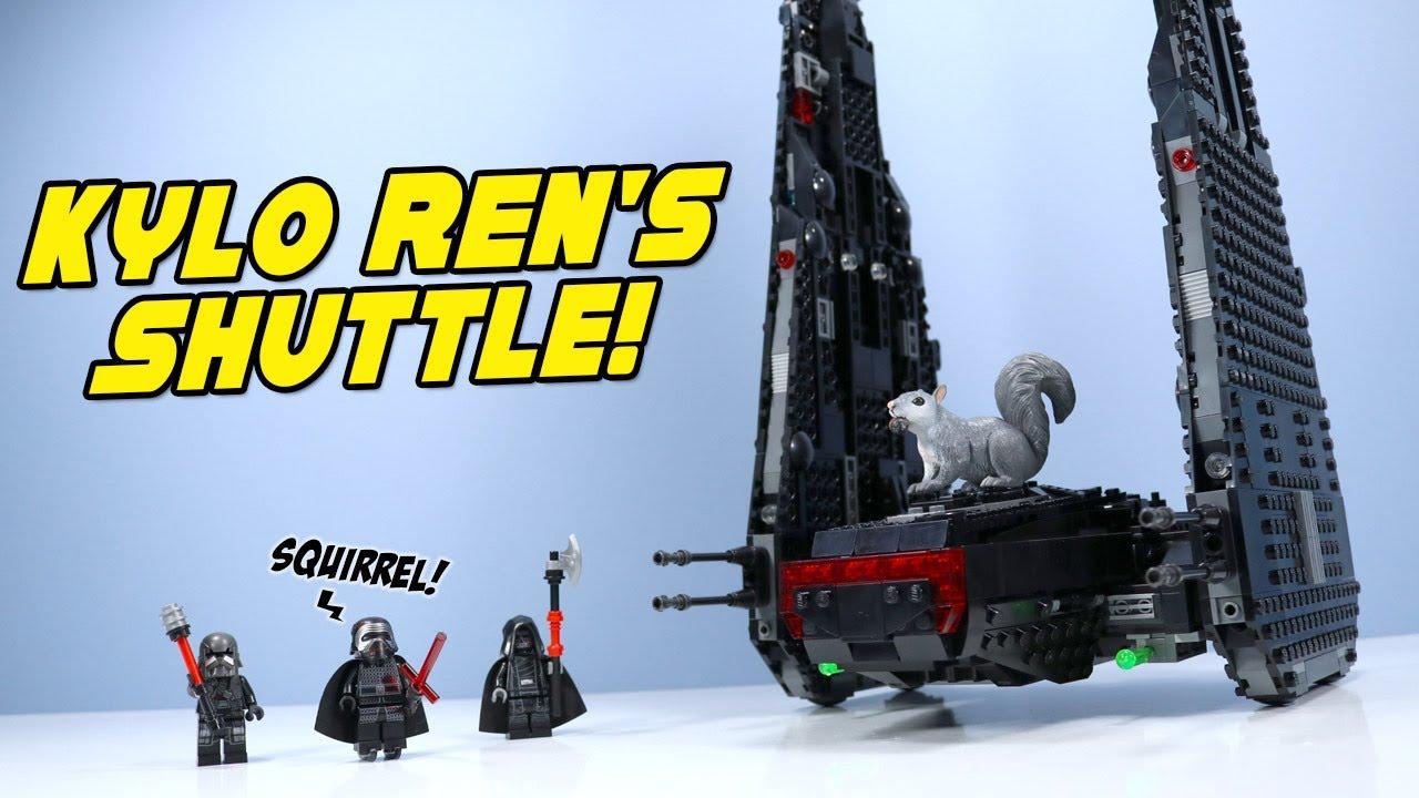 Lego Star Wars Rise Of Skywalker Kylo Ren S Shuttle Speed Build Review Youtube