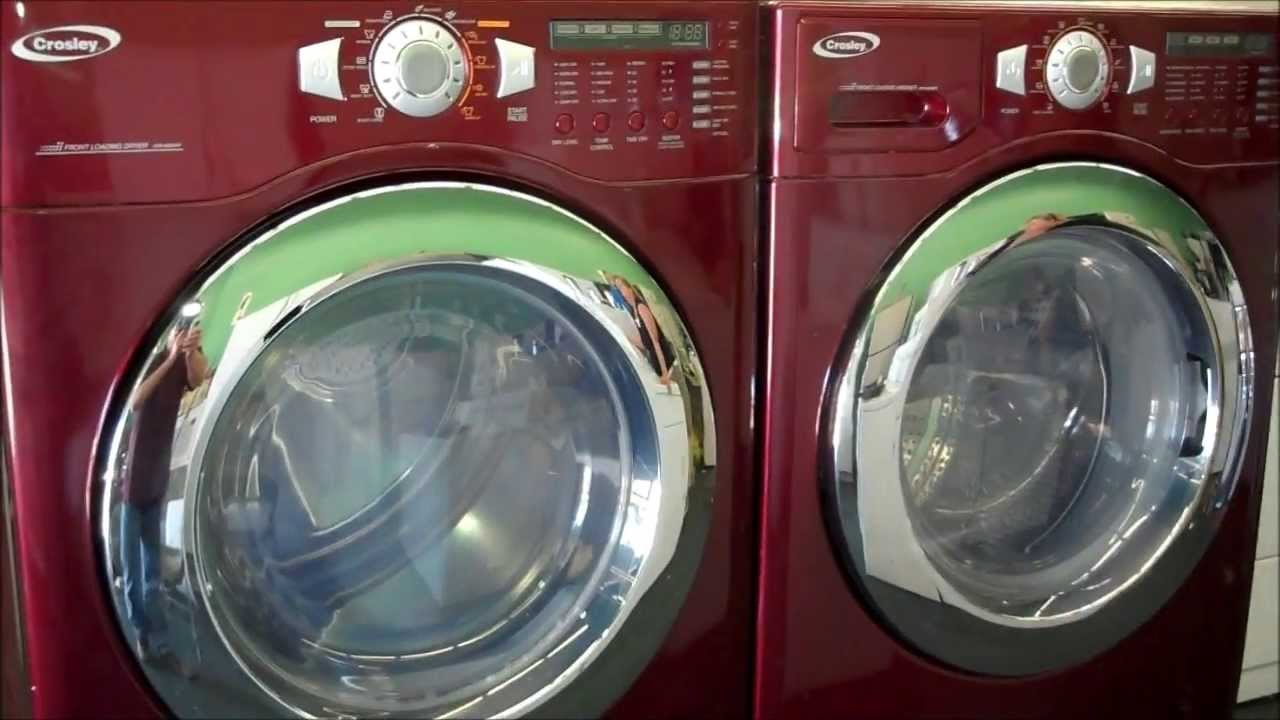Crosley Maytag Front Loading Washer Dryer Set With Pedestal 110v Gas You