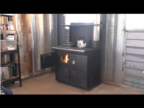 [Off Grid Build] Wood Fired Stove install and DIY Flue and Chimney Cap Build