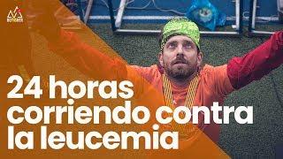 Documental 24 horas corriendo contra la Leucemia en una pista de atletismo.