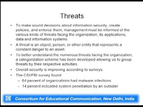 Information Security : Threats and Attacks