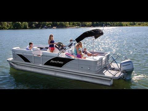 Godfrey Pontoon Boats | Aqua Patio 240 Sun Lounge SL | Rough U0026 Salt Water  Pontoon