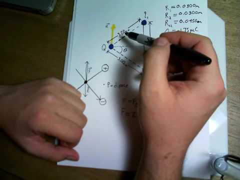 Two Point Charges are Held in Place Given an Acceleration Find q 1 & q 2   Electromagnetism Physics