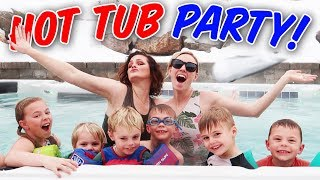 GIANT FROZEN HOT TUB PARTY! | Ellie And Jared