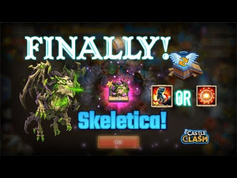 FINALLY! Opening Skeletica And Opening Talent Chest! Castle Clash
