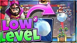 Low Level GIANT SNOWBALL :: DOES IT WORK? :: Clash Royale June Update