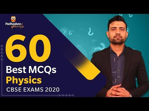 60 Best MCQs Physics Class 12th   CBSE Exams 2020