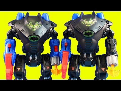 Imaginext Batman Gives Robin A New Batbot Robot To Destroy Joker & Gorilla Grodd Causes Trouble