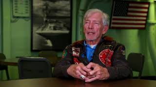 William Sharp talks about being shot down during a mission and escaping temporary captivity.
